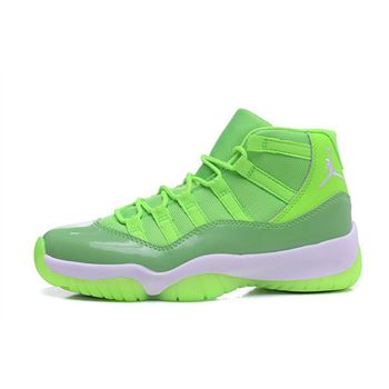 New Air Jordan 11 GS Neon Green PE Basketball Shoes