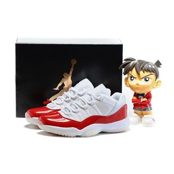 New Air Jordan 11 Low White/Varsity Red-Black Men's and Women's Size 528895-102
