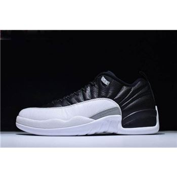 New Air Jordan 12 Low Playoffs Black/Varsity Red-White 308317-004