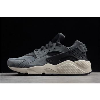 Nike Air Huarache Run Premium Anthracite/Black-Light Bone 704830-016
