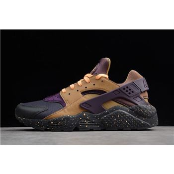 Nike Air Huarache Run Premium Anthracite/Pro Purple/Elemental Gold 704830-012