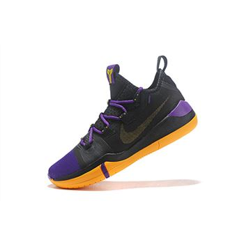Newest Nike Kobe AD Black/Lakers Purple-Yellow
