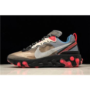 Nike React Element 87 Black/Cool Grey-Blue Chill-Solar Red AQ1090-006
