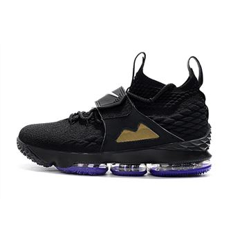 Nike LeBron 15 Black/White/Metallic Gold/Purple
