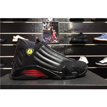 2018 New Air Jordan 14 Last Shot Black/Varsity Red 487471-003