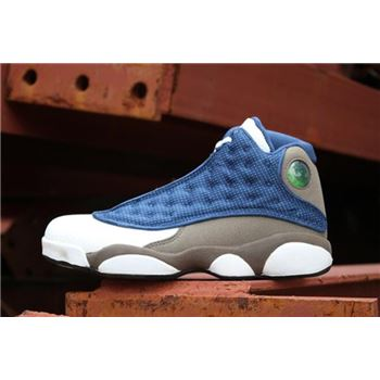 Men's Air Jordan 13 Retro Flint Frnch Blue/Unvrsty Blue-Flint Grey 414571-401