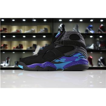 New Air Jordan 8 Retro Aqua Black/Bright Concord-Aqua For Sale
