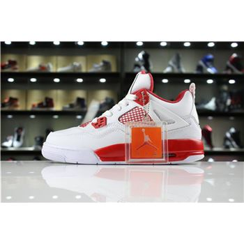 New Air Jordan 4 Retro Alternate 89 White/Black-Gym Red 308497-104