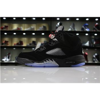 Air Jordan 5 Retro OG Metallic Black Black/Fire Red-Metallic Silver 845035-003