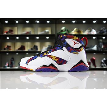 Air Jordan 7 Retro Nothing But Net Sweater White/University Red-Black 304775-142