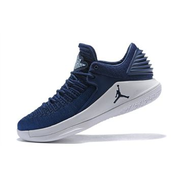 New Air Jordan 32 Low Midnight Navy/White Men's Basketball Shoes