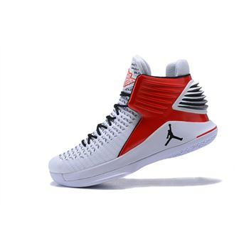 New Air Jordan 32 White Red Black Men's Basketball Shoes For Sale
