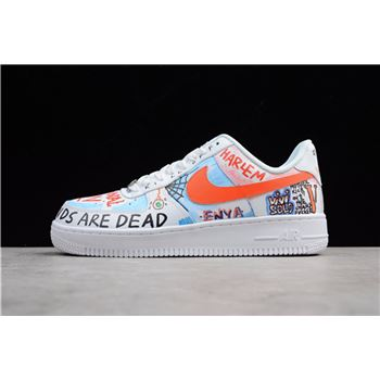 Custom Pauly x Vlone Pop Nike Air Force 1 Low Graffiti Harlem White AA5360-100