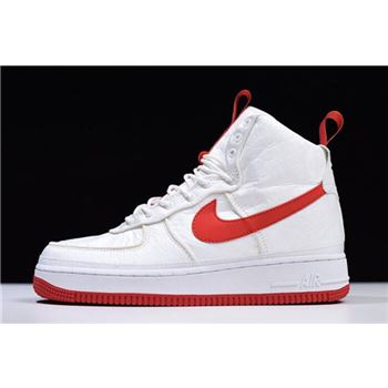 nike WMNS AIR FORCE 1 '07 WHITEGYM RED METALLIC GOLD bij