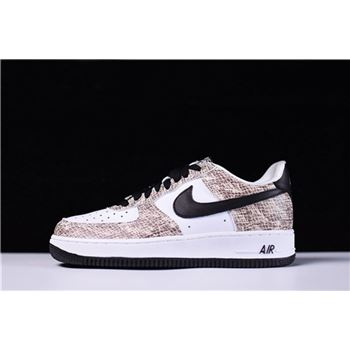 Men's Nike Air Force 1 Low Cocoa Snake True White/Black-Cocoa 845053-104