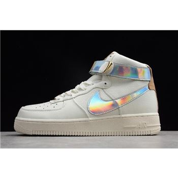 Nike Air Force 1 High QS YH 18 Sail/Metallic Silver AV2039-100